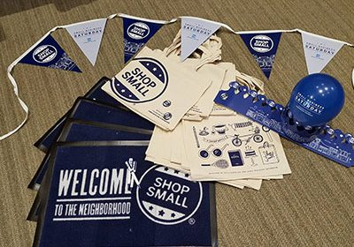 image of shop local marketing materials